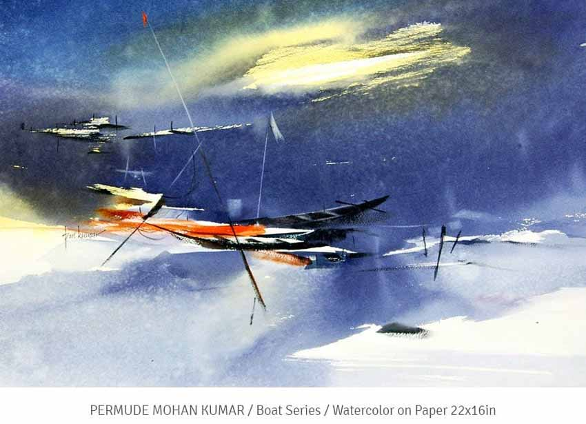 Art of the Week (2) - Boat Series by Permude Mohan Kumar - 9th to 14th Aug 2021 – S Cube Art Gallery