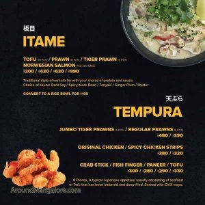 Food Menu - Teri Maki Sushi - Cloud Kitchen in Mangalore