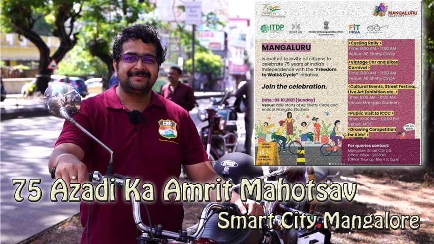 75 Azadi Ka Amrit Mahotsav - Smart City Mangalore - Cycling, Vintage Car Bikes, Art, Drawing, Events etc